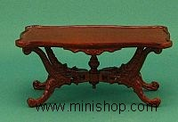 Rose Wisteria Coffee Table in Walnut, by Bespaq