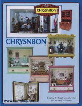 Printed Dollhouse Miniatures by Chrysenbon. Color Catalog