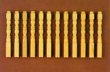 Ball Top Balusters 12pcs. - Dollhouse Miniatures
