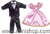Formal Doll Clothing 2 Outfit Set, Dollhouse Miniature