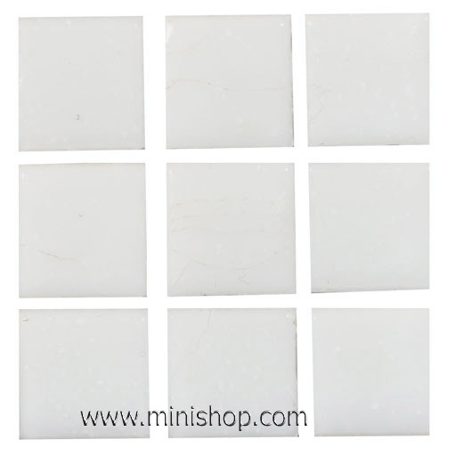 delete-----White Glass Mosaic Tile Sheet