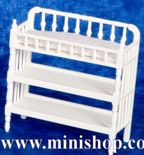 Dollhouse Miniature Changing Table, White - Dollhouse Furniture