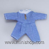 delete----Blue Check Toddlers Outfit, Dolls House Miniature
