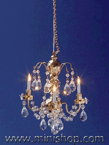 Renaissance 3 Up-Arm Crystal Chandelier
