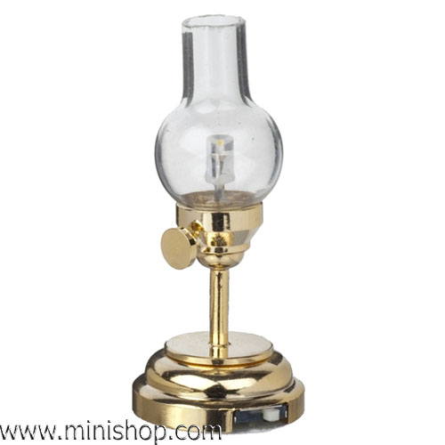 Tipton Traditional LED Hurricane Lamp - Battery - Dollhouse Miniature