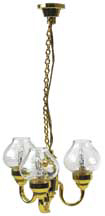 3-Light Wyngate Chandelier, Dollhouse Miniature