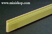 Victorian Skirt Moulding/Baseboard, Dollhouse Miniature Trim