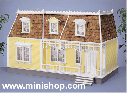 The New Orleans Doll House kit in milled MDF, Real Good Toys