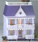 Plum Pudding Dollhouse Assembled, and Upgraded
